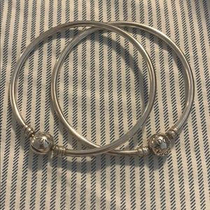Set of pandora bangles bracelets